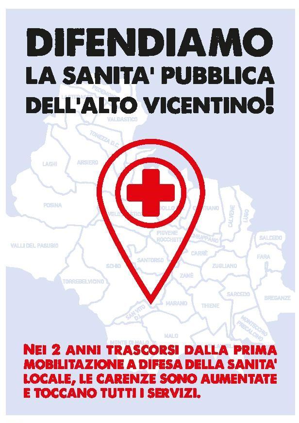 """Manifesto """"Difendiamo la sanità pubblica dell'alto Vicentino!"""""""